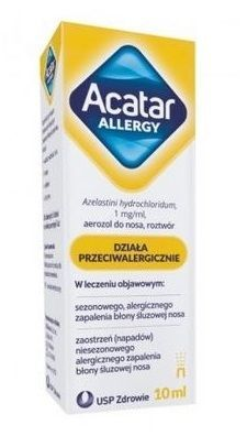 Acatar Allergy 1mg/ml, aerozol do nosa, 10ml