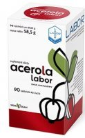 Acerola Labor, smak ananasowy, 90 tabletek do żucia