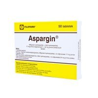 Aspargin (17mg+54mg), 50 tabletek