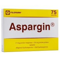 Aspargin (17mg+54mg), 75 tabletek