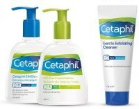 Cetaphil EM, emulsja, 236ml + Cetaphil MD, balsam, 236ml + Cetaphil, żel do twarzy 178ml w prezencie