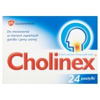 Cholinex 150mg, 24 pastylki do ssania