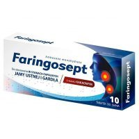 Faringosept 10mg, 10 tabletek do ssania
