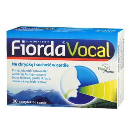 Fiorda Vocal, 30 pastylek do ssania