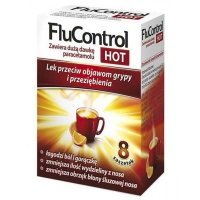 Flucontrol Hot (100mg+10mg+4mg), 8 saszetek