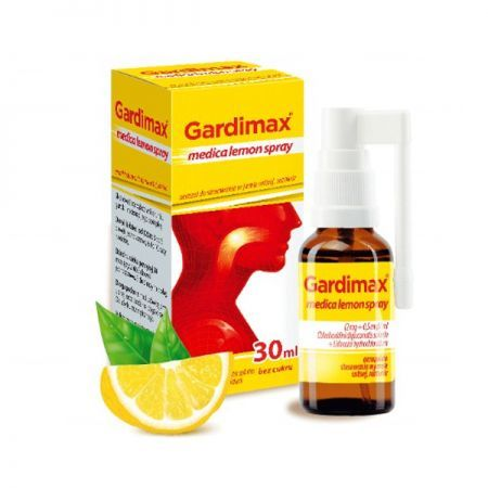 Gardimax medica lemon spray (2mg+0,5mg)/ml, aerozol bez cukru, 30ml