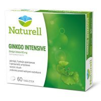 Naturell, Ginkgo Intensive, 60 tabletek