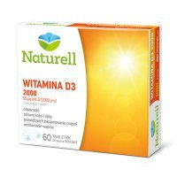 Naturell, Witamina D3 2000, 60 tabletek do ssania
