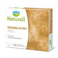 Naturell, Witamina K2 MK-7, 60 tabletek do ssania