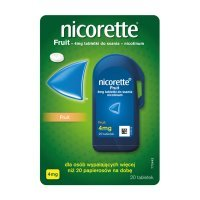 Nicorette Fruit 4mg, 20 tabletek do ssania