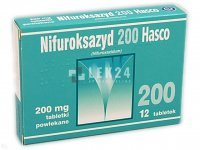 Nifuroksazyd Hasco 200mg, 12 tabletek