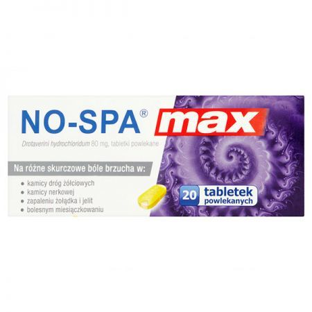 No-Spa MAX 80mg, 20 tabletek
