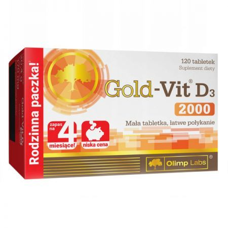Olimp Labs, Gold-Vit D3 2000, 120 tabletek