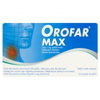 Orofar Max (2mg+1mg), 20 pastylek do ssania