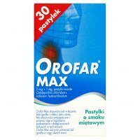Orofar Max (2mg+1mg), 30 pastylek do ssania