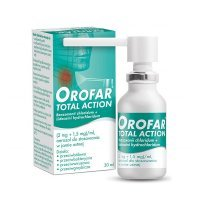 Orofar Total Action (2mg+1,5mg)/ml, aerozol do stosowania w jamie ustnej, 30ml