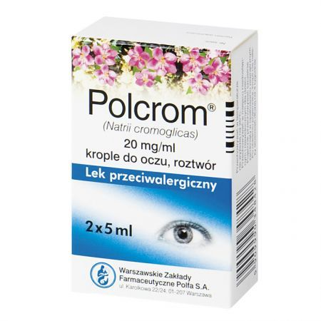 Polcrom 20mg/ml, krople do oczu, 10ml