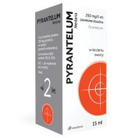Pyrantelum 250mg/5ml, zawiesina doustna, 15ml