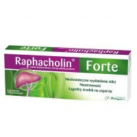 Raphacholin forte 250mg, 10 tabletek