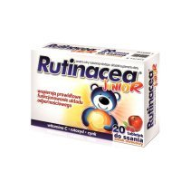 Rutinacea Junior, smak owocowy, 20 tabletek do ssania