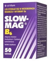 Slow-Mag B6 (64mg+5mg), 50 tabletek