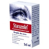 Starazolin 0,5mg/ml, krople do oczu, 2x5ml