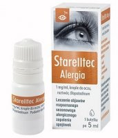 Starelltec Alergia (Starazolin Alergia) 1mg/ml, krople do oczu, 5ml KRÓTKA DATA 06/2021