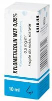 Xylometazolin WZF 0,5mg/ml, krople do nosa, 10ml