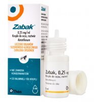 Zabak 0,25mg/ml, krople do oczu, 5ml